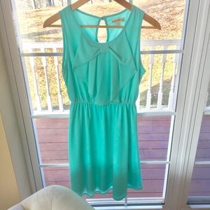 ALTAR'D STATE Teal Bow Front Dress